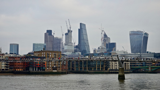 an image of the London skyline
