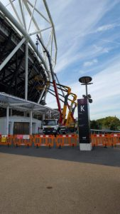 an image taken during the London Stadium project