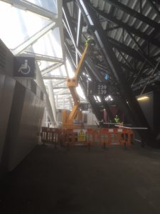 an image of construction work in London Stadium