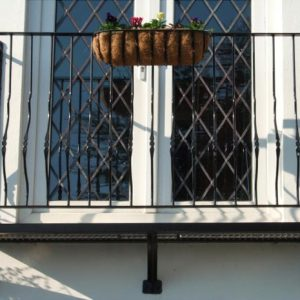 an image of a steel balcony