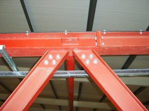an image of one of the joints of a steel frame
