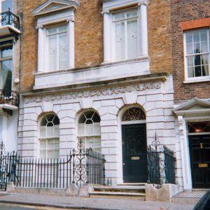 an image of the facade of a Georgian house