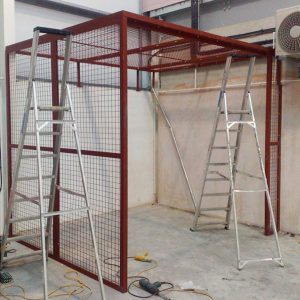an image of steel safety grills and ladders