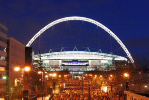 an image of Wembley, one of the most impressive sports stadiums
