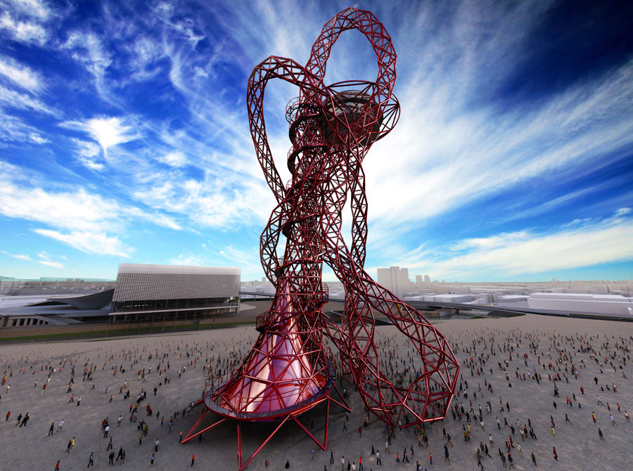 an image of the ArcelorMittal Orbit Tower in London