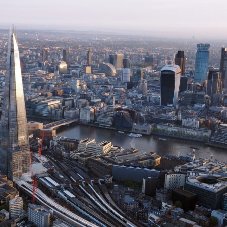 an image of London from the air
