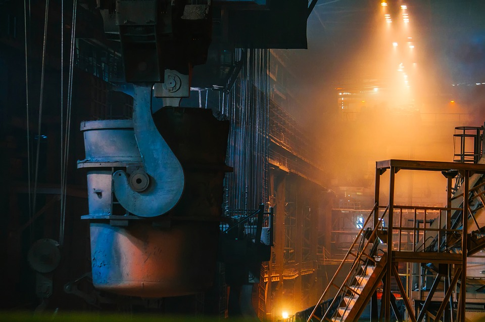 an image of steel production